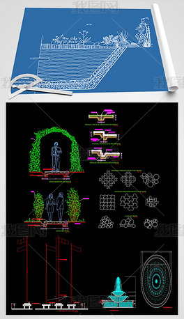 拱形花门CAD图纸