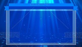 蓝色科技字幕框文字框视频素材(无缝循环)