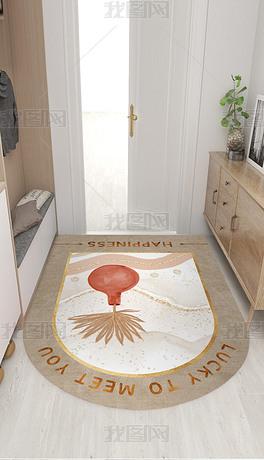 现代北欧轻奢花瓶大理石纹床边毯厨房地垫地毯