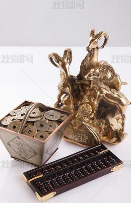 算盘和铜钱