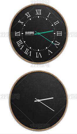 现代酒店挂钟时钟贴图样机模型