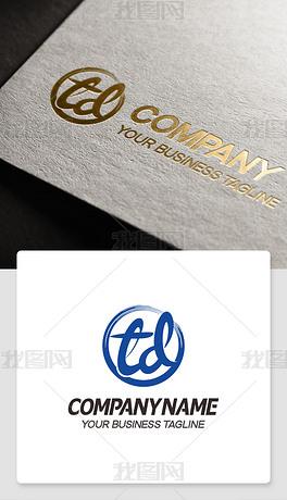 td型logo设计带td的标志网店网站商标