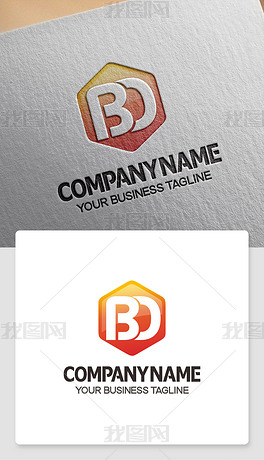 BD元素logo设计BD型标志高端标志模版