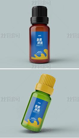 多视角可换色塑料瓶玻璃瓶小药瓶样机
