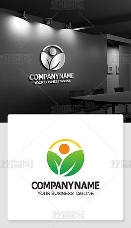 绿叶logo标志代表徽标效果图标识ai格式
