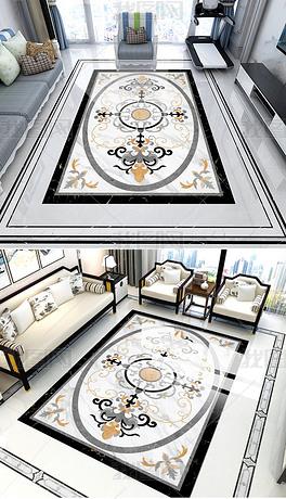 高清大厅拼花地板地毯