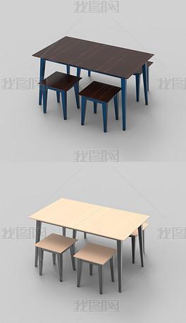 餐桌椅犀牛3D模型