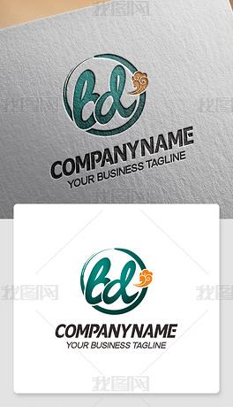 bd元素logo设计bd形标志商标cdr模板