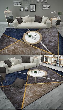 几何金线地毯