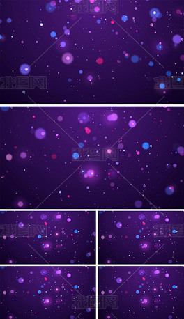 星辰大海彩色粒子高清视频