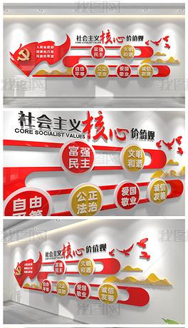 社会主义核心价值观文化墙设计方案