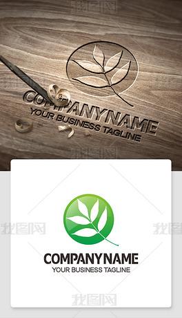 绿叶logo标志企业logo设计欣赏