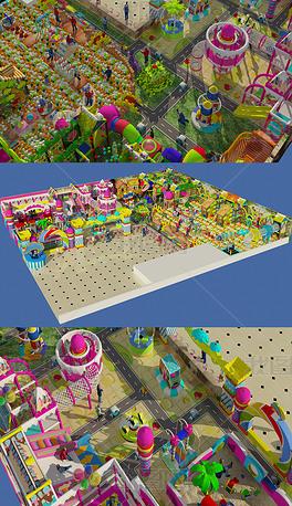 儿童游乐园淘气堡max模型