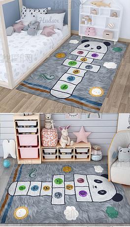 儿童房床边毯