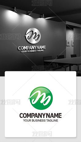 m形logo设计m型标志淘宝店铺logo标志