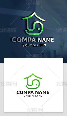 房产中介家居装饰物业地产标志商标LOGO设计