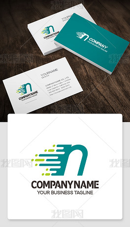 n元素logo设计英文n字母标志个性象征意义