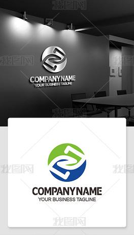 Z型logo设计Z开头标志商标cdr模板