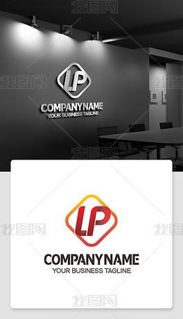 英文lp字母logo设计带lp的标志