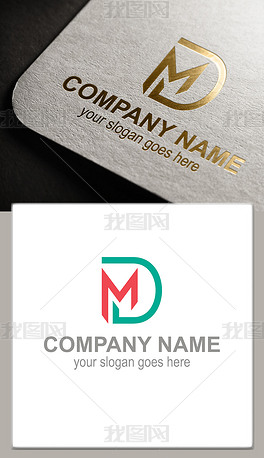 MD字母标志设计