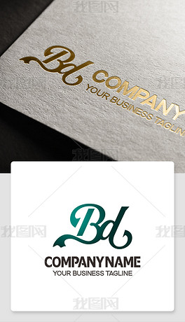 bd形logo设计带bd的标志高端标志模版