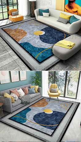 几何彩色地毯