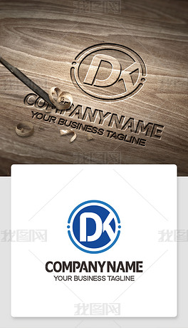 dk元素logo设计dk形标志代表徽标效果图