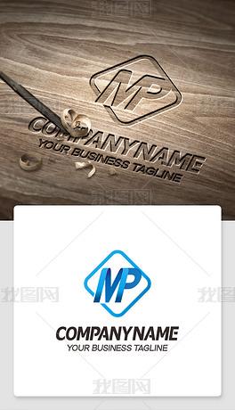 mp形logo设计mp元素标志个性象征意义