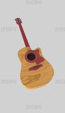 乐器吉他犀牛模型