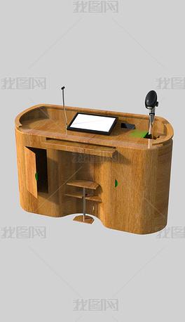 讲台桌子犀牛模型