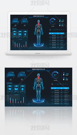 商务科技医疗数据可视化分析大数据可视化