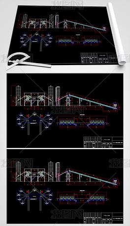 混凝土搅拌站机械CAD图纸