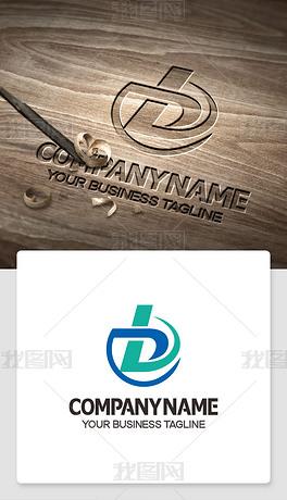 b型logo设计带bd的标志高端标志模版