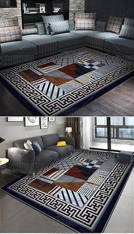 高清格子棋盘地毯