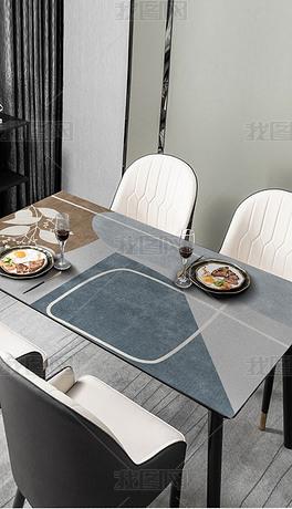 北欧现代简约ins轻奢几何抽象桌布茶几餐桌垫