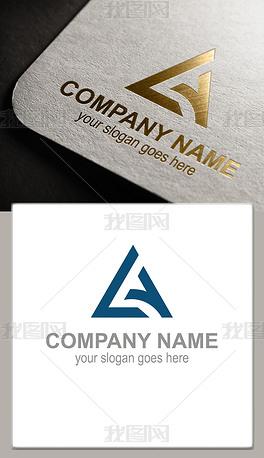 LY字母三角形logo