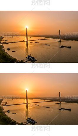 日落南京长江二桥图片