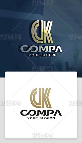 原创精品创意CK字母标志CK字母LOGO设计