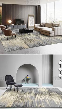 北欧现代轻奢创意抽象裂纹床边毯客厅地毯
