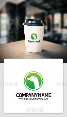 鹅logo标志公司标志设计赏析个性象征意义