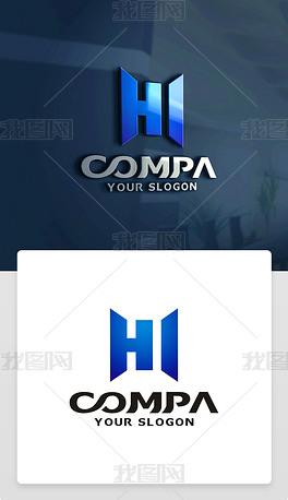 原创精品创意H字母标志H字母LOGO设计