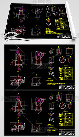 N2500高效水平涡流选粉机CAD机械总图