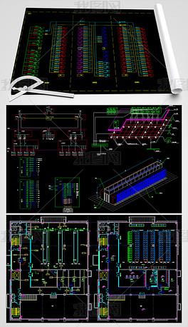 数据中心机房电气CAD建筑设计图