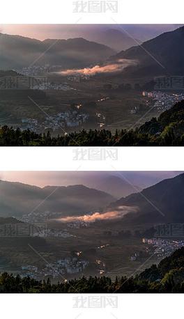 山村晨韵摄影图