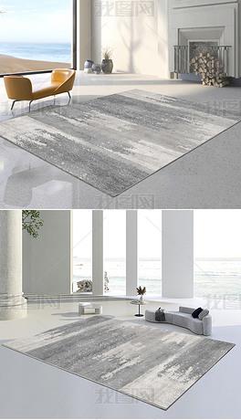 现代简约北欧轻奢抽象几何灰色地毯地垫图案设计