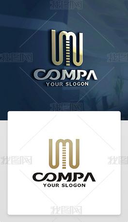 原创精品创意精美M字母标志M字母LOGO设计