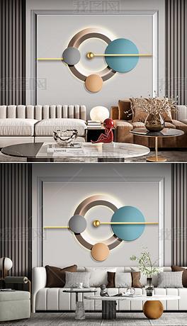 立体质感抽象几何现代简约沙发背景墙8