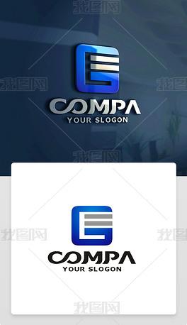 原创精品创意G字母LOGO设计G字母标志商标
