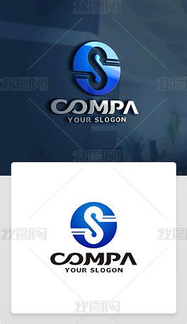 原创精品创意S字母LOGO设计S字母标志商标