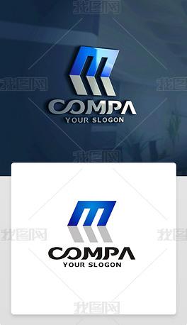M字母LOGO设计M字母标志M字母商标字母M